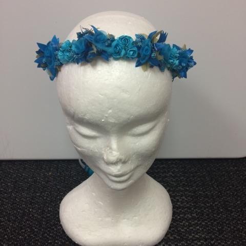 Flower Garland - Aqua