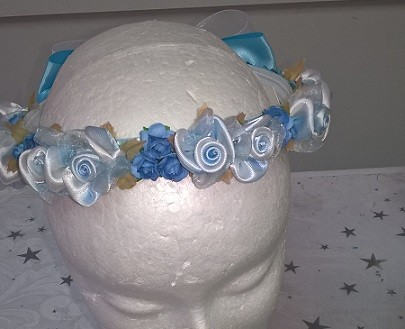 Flower Garland - Baby Blue