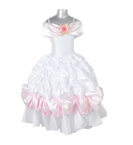 Belle Ballgown - White and Pink