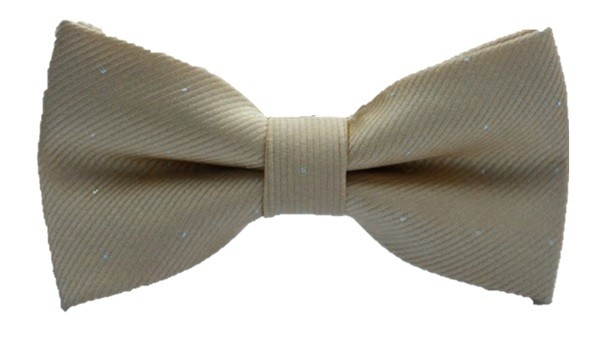 Kids Spotted Bow Tie - Champagne
