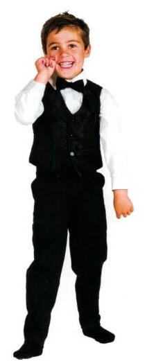 Boys Waistcoat - Black
