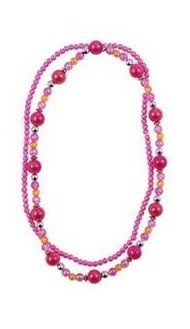 Pink Poppy Double Strand Necklace - Hot Pink