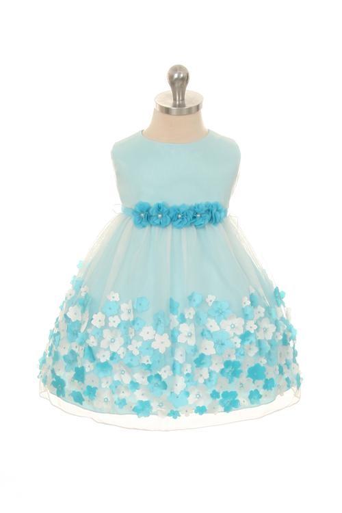 Elise Dress - Aqua (Infant)