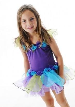 Fairy Girls Forget Me Not Tutu Dress - Purple