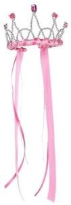 Ribbon Tiara - Hot Pink