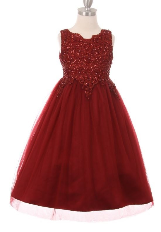 Jewel Dress - Burgundy