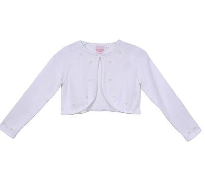 Knit Pearl Cardigan - White