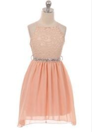 Lana Dress - Peach - Size 5/6