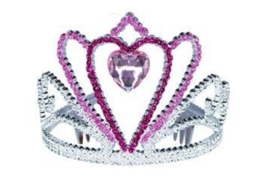 Pink Heart Tiara - Light Pink