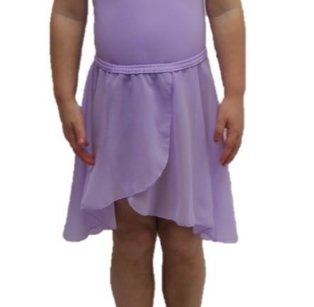 Chiffon Pull On Elastic Skirt - Lilac