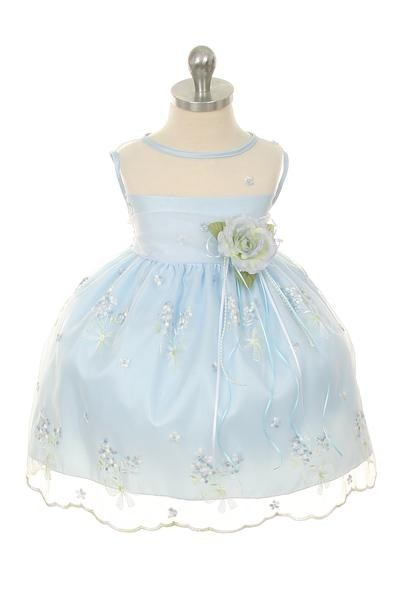 Lisa Dress - Baby Blue - Size 1/2