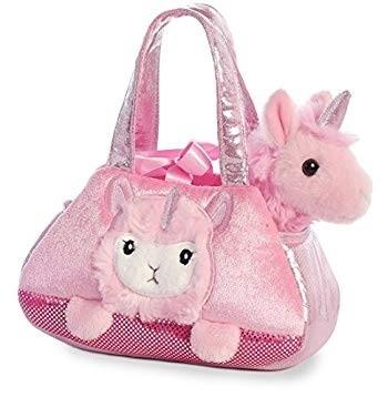 Fancy Pals Plush Peek-a-boo lamacorn Pet Bag