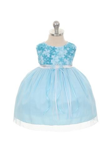 Melanie Dress - Aqua (Infant)