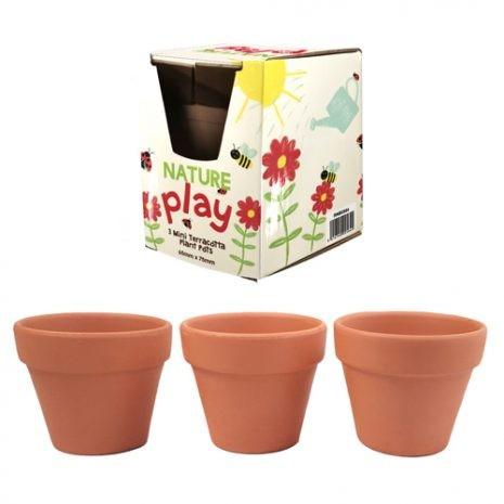 Nature Play - 3 Mini Terracotta Fairy Plant Pots