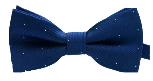 Kids Spotted Bow Tie - Navy