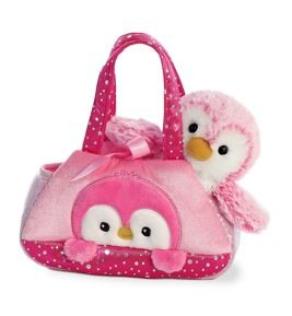 Fancy Pals PomPom Pink Pengiun Pet Carrier