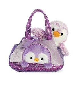 Fancy Pals PomPom Purple Pengiun Pet Carrier