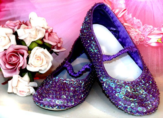 Sequinned Shoes - Purple