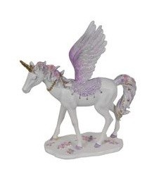 25cm Flying Floral Unicorn - Purple