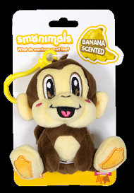 Smanimals Back Pack Buddies - Banana Monkey