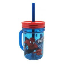Spiderman Plastic Mason Jar