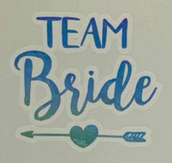 Temporary Tattoo - Holographic - Team Bride