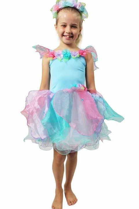 Wish fairy dress and wand - Blue