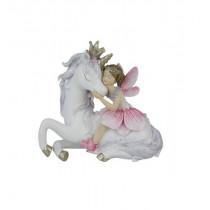 10cm Hugging Fairy on Unicorn - Pink