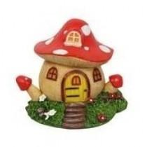 10cm Mushroom Fairy Garden House - Red