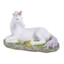 13cm Unicorn on Base - Purple Laying