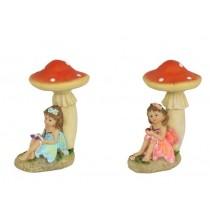 Fairy under Mushroom - 15cm