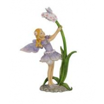 15cm Fairy with Flower - Purple