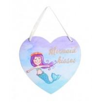 Mermaid Glitter Heart Plaque