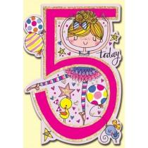 Rachel Ellen Birthday Card - Age 5 Ballerina