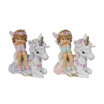 7cm Fairy Sitting on Unicorn