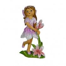 8.5cm Flower Fairy - Purple