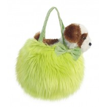 Fancy Pals Fluffy Green Pet Carrier