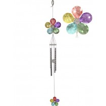 Acrylic Rainbow Flower Windchime