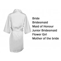 'Personalised Wedding Party Robes - White (Adult)