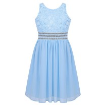 Alyssa Dress - Sky Blue