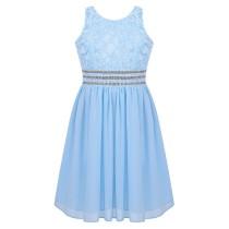Alyssa Dress - Sky Blue