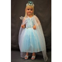 Pink Poppy Princess Sparkle Dress - Blue and Silver