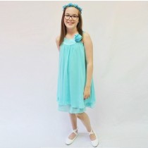 Ashleigh Dress - Aqua - RRP: $79