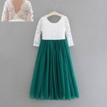 Aubry Dress - Forrest Green