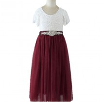 Ava Dress - Maroon