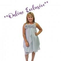 Ava Rose Dress - Silver - Size 3/4 *FINAL STOCK*