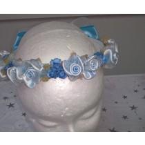 Flower Garland - Baby Blue