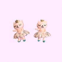 Clip On earrings - Ballet Cat