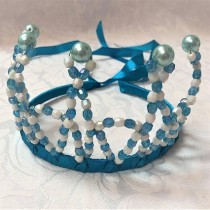 Beaded Princess Tiara - Blue