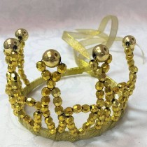 Beaded Princess Tiara - Gold